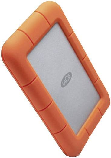 Externe Festplatte 6.35 cm (2.5 Zoll) 2 TB LaCie Rugged Mini Silber, Orange USB 3.0