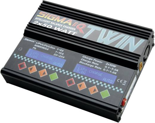Modellbau-Multifunktionsladegerät 12 V, 220 V 5 A Ripmax Sigma Twin