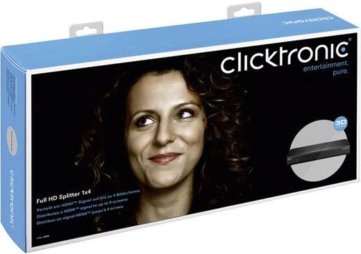 4 Port HDMI-Splitter clicktronic 60806 Ultra HD-fähig, 3D-Wiedergabe möglich 3840 x 2160 Pixel Schwarz