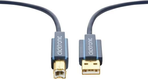USB 2.0 Anschlusskabel [1x USB 2.0 Stecker A - 1x USB 2.0 Stecker B] 1.8 m Blau vergoldete Steckkontakte clicktronic