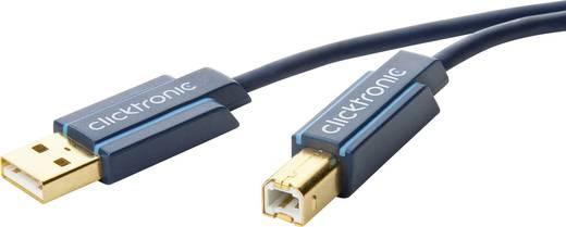 USB 2.0 Anschlusskabel [1x USB 2.0 Stecker A - 1x USB 2.0 Stecker B] 3 m Blau vergoldete Steckkontakte clicktronic