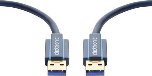 clicktronic USB 3.0 Anschlusskabel [1x USB 2.0 Stecker A - 1x USB 2.0 Stecker A] 1.8 m Blau vergoldete Steckkontakte