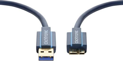 USB 3.0 Anschlusskabel [1x USB 3.0 Stecker A - 1x USB 3.0 Stecker Micro B] 1 m Blau vergoldete Steckkontakte clicktronic