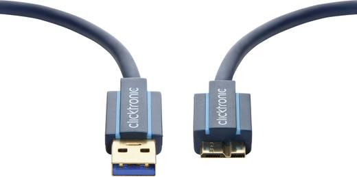 USB 3.0 Anschlusskabel [1x USB 3.0 Stecker A - 1x USB 3.0 Stecker Micro B] 1.8 m Blau vergoldete Steckkontakte clicktron