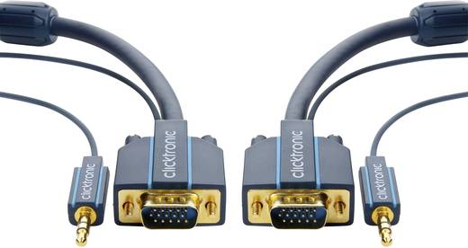 VGA / Klinke Anschlusskabel [1x VGA-Stecker, Klinkenstecker 3.5 mm - 1x VGA-Stecker, Klinkenbuchse 3.5 mm] 5 m Blau clic