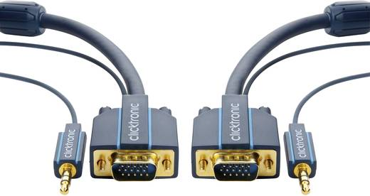 VGA / Klinke Anschlusskabel [1x VGA-Stecker, Klinkenstecker 3.5 mm - 1x VGA-Stecker, Klinkenbuchse 3.5 mm] 10 m Blau cli