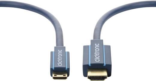 clicktronic HDMI Anschlusskabel [1x HDMI-Stecker - 1x HDMI-Stecker C Mini] 1 m Blau