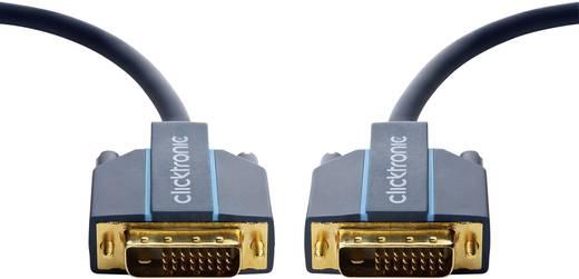 clicktronic DVI Anschlusskabel [1x DVI-Stecker 24+1pol. - 1x DVI-Stecker 24+1pol.] 1 m Blau