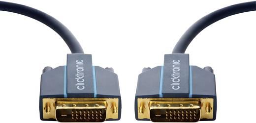 DVI Anschlusskabel [1x DVI-Stecker 24+1pol. - 1x DVI-Stecker 24+1pol.] 3 m Blau clicktronic