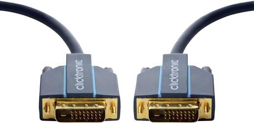 DVI Anschlusskabel [1x DVI-Stecker 24+1pol. - 1x DVI-Stecker 24+1pol.] 5 m Blau clicktronic