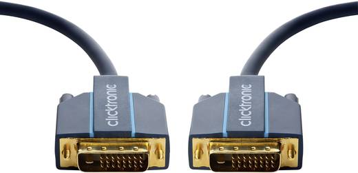 clicktronic DVI Anschlusskabel [1x DVI-Stecker 24+1pol. - 1x DVI-Stecker 24+1pol.] 7.5 m Blau