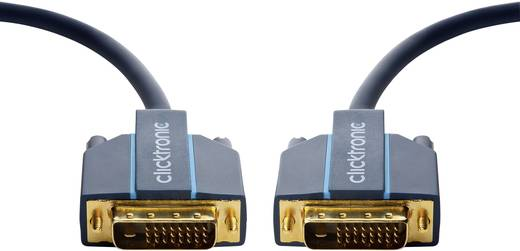 clicktronic DVI Anschlusskabel [1x DVI-Stecker 24+1pol. - 1x DVI-Stecker 24+1pol.] 10 m Blau