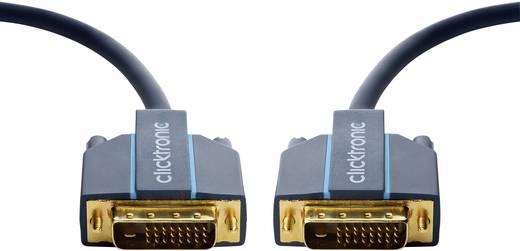 DVI Anschlusskabel [1x DVI-Stecker 24+1pol. - 1x DVI-Stecker 24+1pol.] 15 m Blau clicktronic