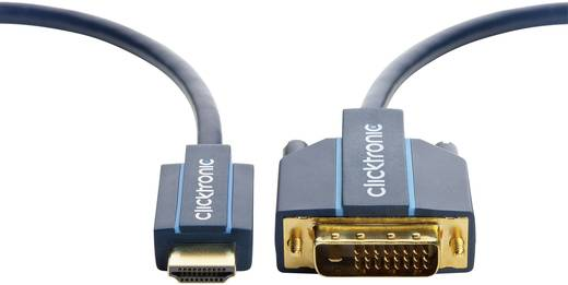 DVI / HDMI Anschlusskabel [1x DVI-Stecker 24+1pol. - 1x HDMI-Stecker] 7.5 m Blau clicktronic