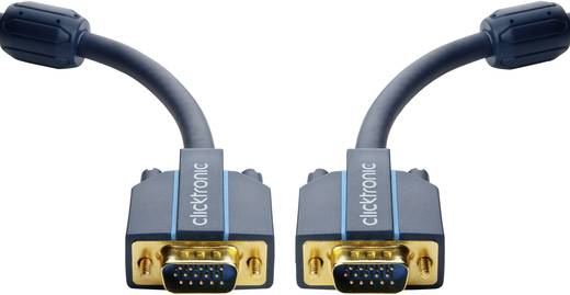 clicktronic VGA Anschlusskabel [1x VGA-Stecker - 1x VGA-Stecker] 1 m Blau