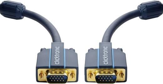 clicktronic VGA Anschlusskabel [1x VGA-Stecker - 1x VGA-Stecker] 2 m Blau