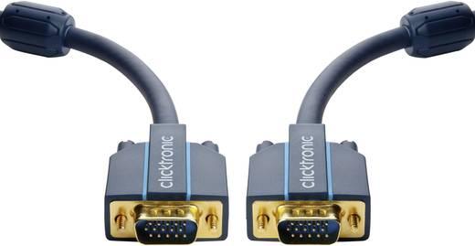 clicktronic VGA Anschlusskabel [1x VGA-Stecker - 1x VGA-Stecker] 3 m Blau