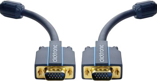 VGA Anschlusskabel [1x VGA-Stecker - 1x VGA-Stecker] 3 m Blau clicktronic