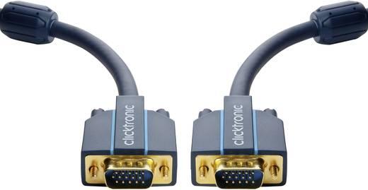 VGA Anschlusskabel [1x VGA-Stecker - 1x VGA-Stecker] 5 m Blau clicktronic