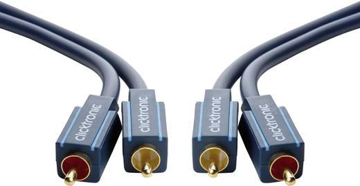 clicktronic Cinch Audio Anschlusskabel [2x Cinch-Stecker - 2x Cinch-Stecker] 0.50 m Blau vergoldete Steckkontakte