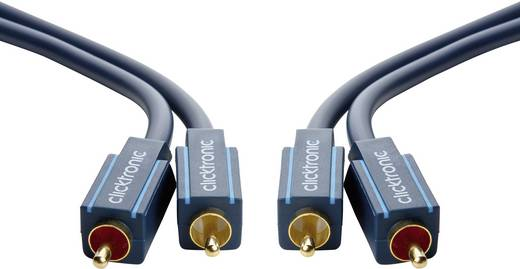 Cinch Audio Anschlusskabel [2x Cinch-Stecker - 2x Cinch-Stecker] 3 m Blau vergoldete Steckkontakte clicktronic