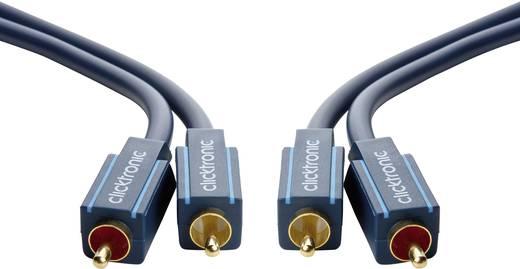 Cinch Audio Anschlusskabel [2x Cinch-Stecker - 2x Cinch-Stecker] 15 m Blau vergoldete Steckkontakte clicktronic