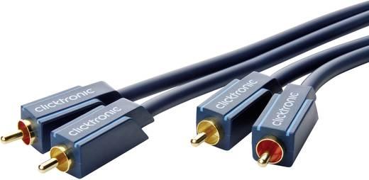 clicktronic Cinch Audio Anschlusskabel [2x Cinch-Stecker - 2x Cinch-Stecker] 20 m Blau vergoldete Steckkontakte