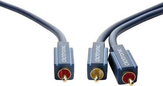 Cinch Audio Y-Kabel [1x Cinch-Stecker - 2x Cinch-Stecker] 1 m Blau vergoldete Steckkontakte clicktronic