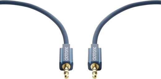 clicktronic Klinke Audio Anschlusskabel [1x Klinkenstecker 3.5 mm - 1x Klinkenstecker 3.5 mm] 3 m Blau vergoldete Steckk