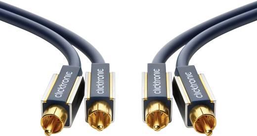 Cinch Audio Anschlusskabel [2x Cinch-Stecker - 2x Cinch-Stecker] 3 m Blau vergoldete Steckkontakte clicktronic