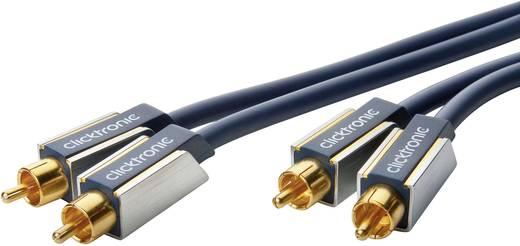Cinch Audio Anschlusskabel [2x Cinch-Stecker - 2x Cinch-Stecker] 20 m Blau vergoldete Steckkontakte clicktronic