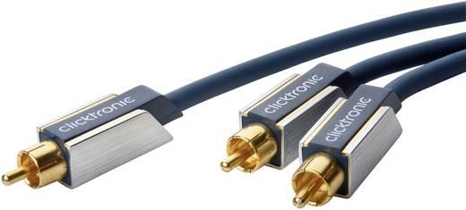 clicktronic Cinch Audio Anschlusskabel [1x Cinch-Stecker - 2x Cinch-Stecker] 1 m Blau vergoldete Steckkontakte
