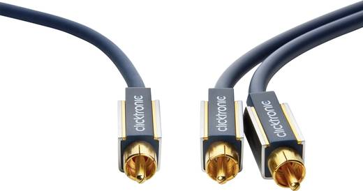 Cinch Audio Anschlusskabel [1x Cinch-Stecker - 2x Cinch-Stecker] 5 m Blau vergoldete Steckkontakte clicktronic