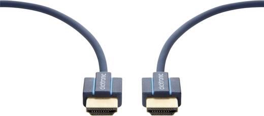 clicktronic HDMI Anschlusskabel [1x HDMI-Stecker - 1x HDMI-Stecker] 0.5 m Blau