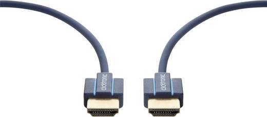 clicktronic HDMI Anschlusskabel [1x HDMI-Stecker - 1x HDMI-Stecker] 2 m Blau