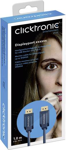 clicktronic DisplayPort Anschlusskabel [1x DisplayPort Stecker - 1x DisplayPort Stecker] 2 m Blau