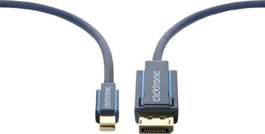 clicktronic DisplayPort Anschlusskabel [1x DisplayPort Stecker - 1x Mini-DisplayPort Stecker] 2 m Blau