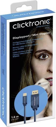clicktronic DisplayPort Anschlusskabel [1x DisplayPort Stecker - 1x Mini-DisplayPort Stecker] 5 m Blau