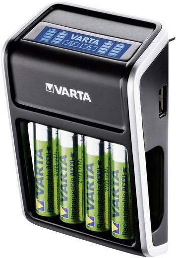 Rundzellen-Ladegerät NiMH inkl. Akkus Varta LCD Plug Micro (AAA), Mignon (AA), 9 V Block