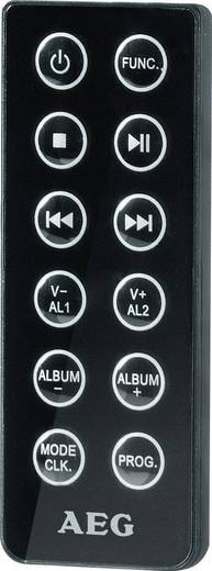 AEG MC 4461 BT Stereoanlage AUX, Bluetooth®, CD, UKW, USB, Schwarz