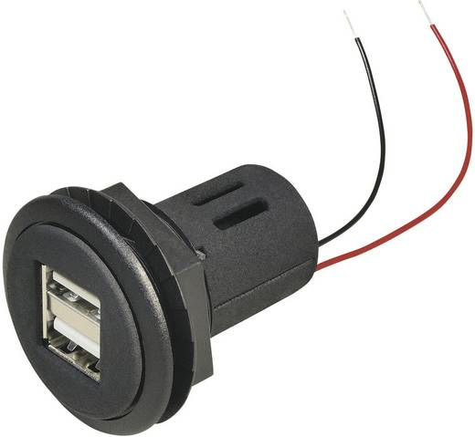 ProCar USB Einbau-Doppelsteckdose Belastbarkeit Strom max.=5 A Passend für (Details) USB-A
