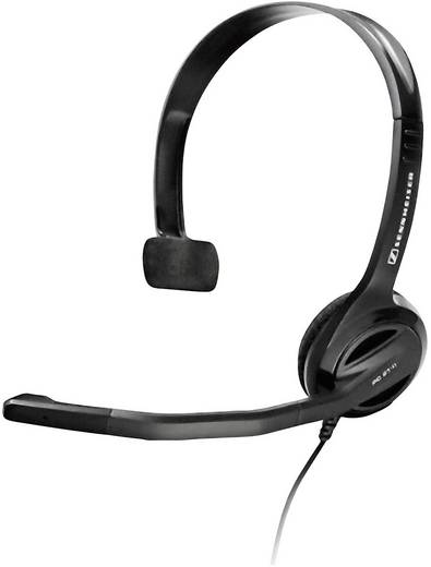 PC-Headset 3.5 mm Klinke schnurgebunden, Mono Sennheiser PC 21-II On Ear Schwarz
