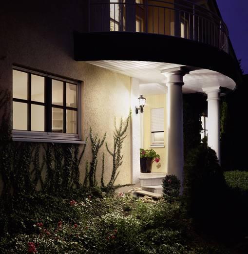 Außenwandleuchte mit Bewegungsmelder Energiesparlampe, LED E27 60 W Steinel L 562 S 634612 Schwarz