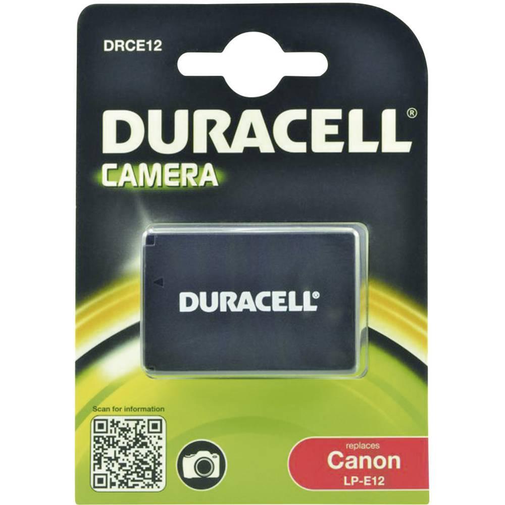 Duracell LP-E12 Camera-accu Vervangt originele accu LP-E12 7.4 V 800 mAh