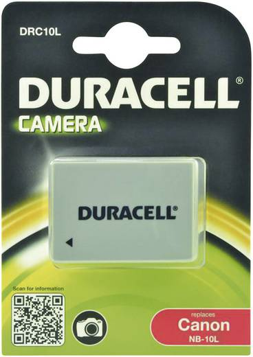 Kamera-Akku Duracell ersetzt Original-Akku NB-10L 7.4 V 820 mAh NB-10L