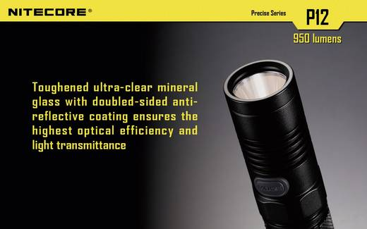 LED Taschenlampe NiteCore P12 batteriebetrieben 950 lm 520 h 88 g