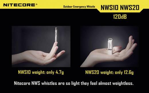 Signalpfeife Titan 120 dB NiteCore Notsignalpfeife NWS10 NWS10