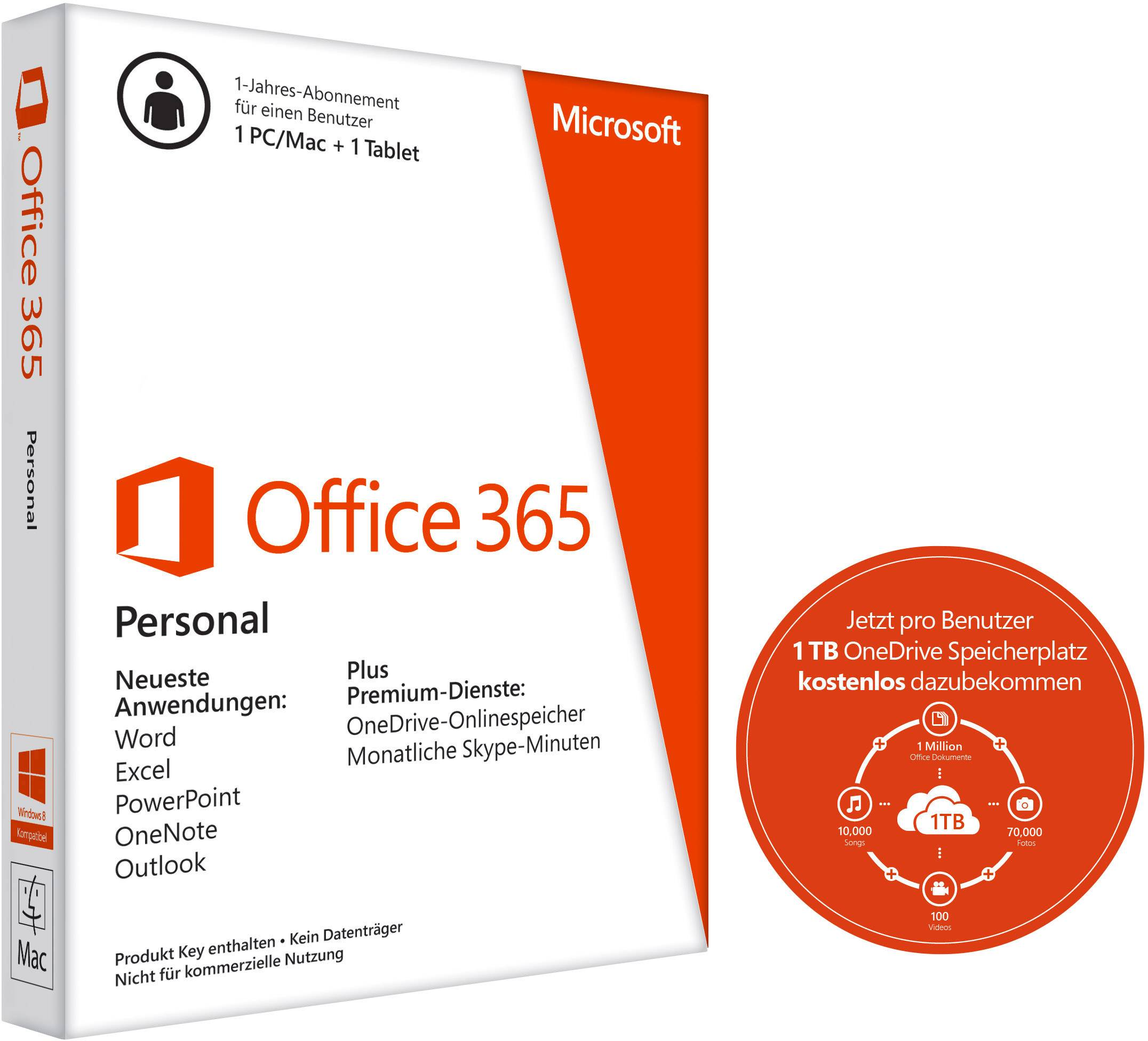 microsoft office 365 personal versione completa  1 licenza windows  mac pacchetto office in