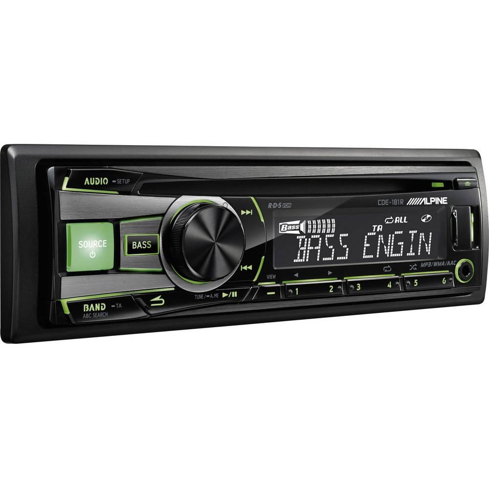 autoradio alpine car audio cde 181r in vendita online cde 181r conrad. Black Bedroom Furniture Sets. Home Design Ideas