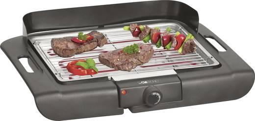 Tisch Elektro-Grill Clatronic BQ3507 mit Windschutz, mit manueller Temperatureinstellung Schwarz
